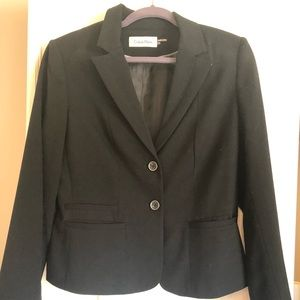 Calvin Kline Black Jacket and Skirt